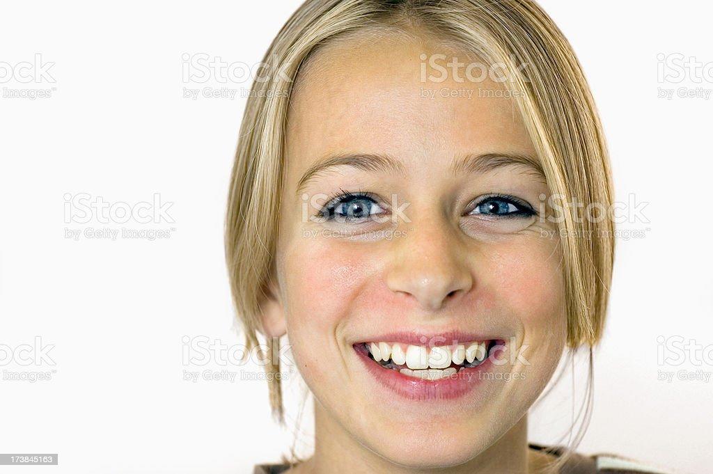 Pretty teenage girl laughing royalty-free stock photo