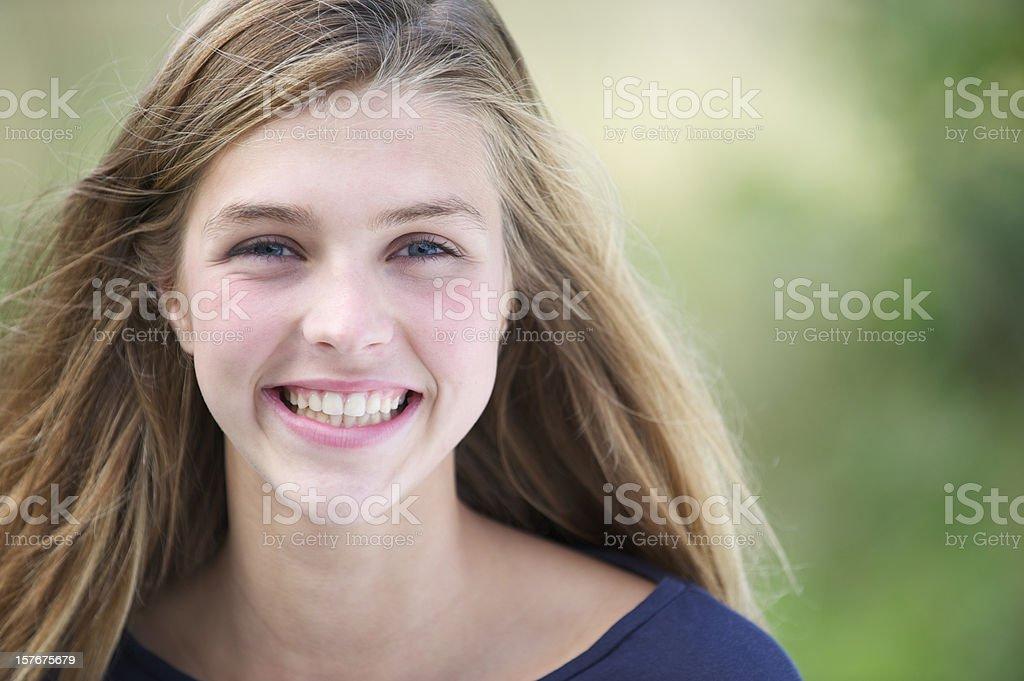 Pretty teenage girl royalty-free stock photo