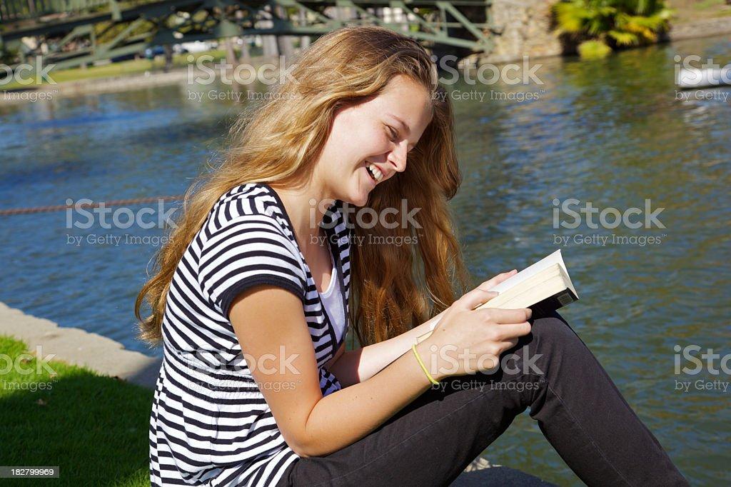 Pretty Teenage Girl Reading royalty-free stock photo