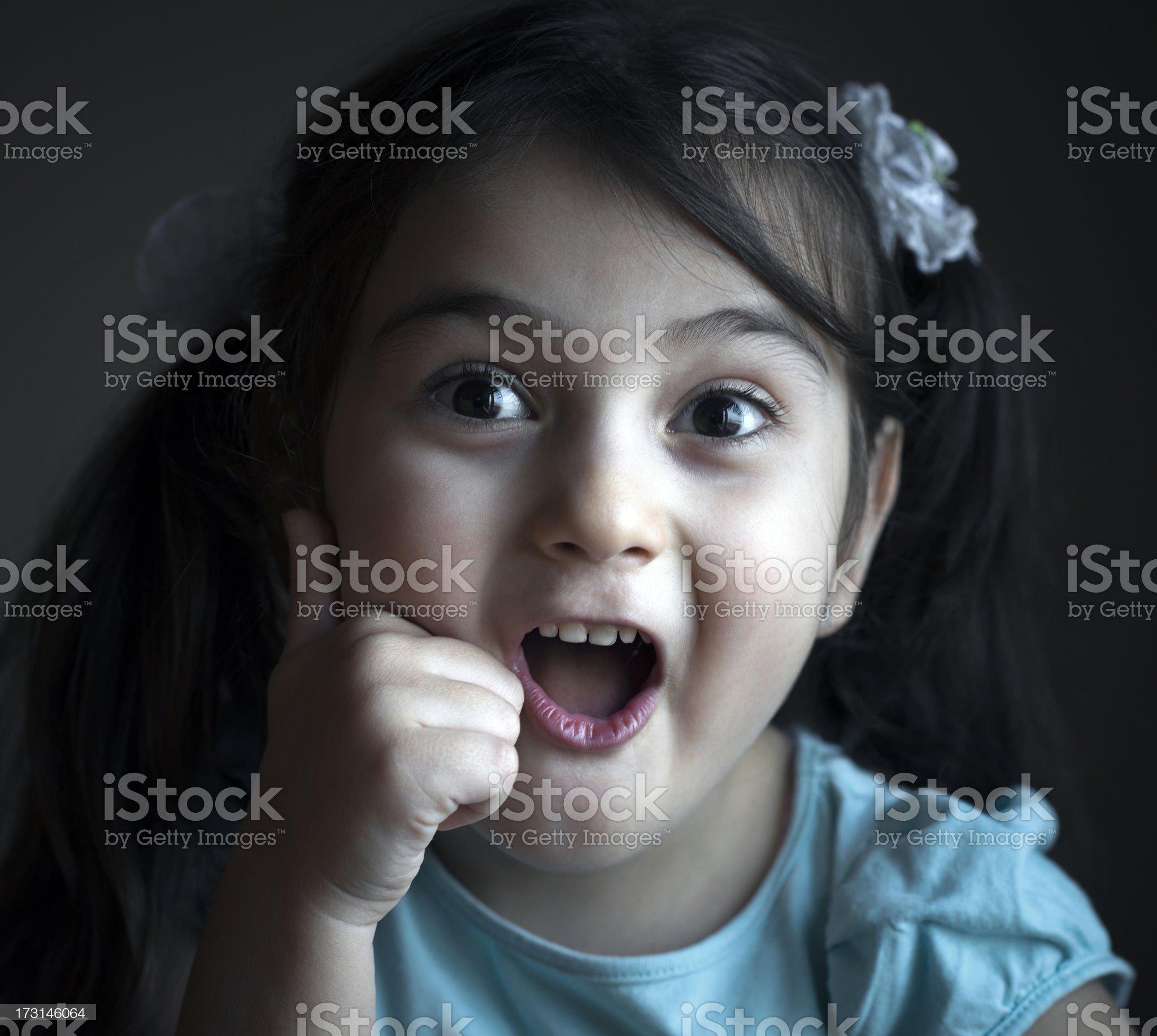 pretty Turkish girl screaming royalty-free stock photo