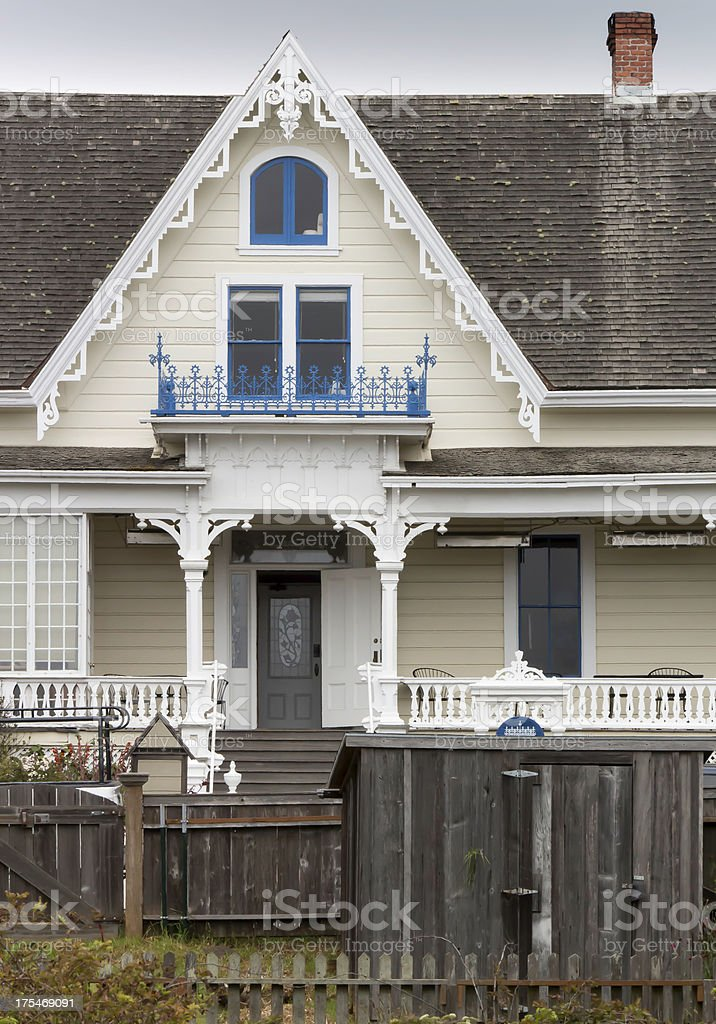 Pretty Victorian home royalty-free stock photo