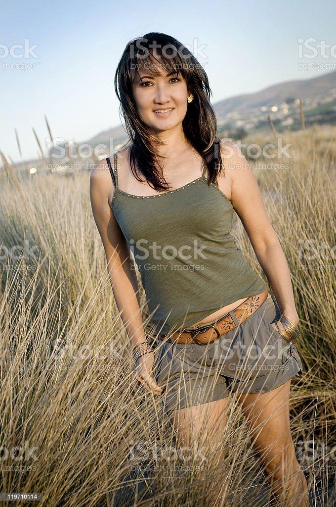 Mujer bonita vietnamita foto de stock libre de derechos