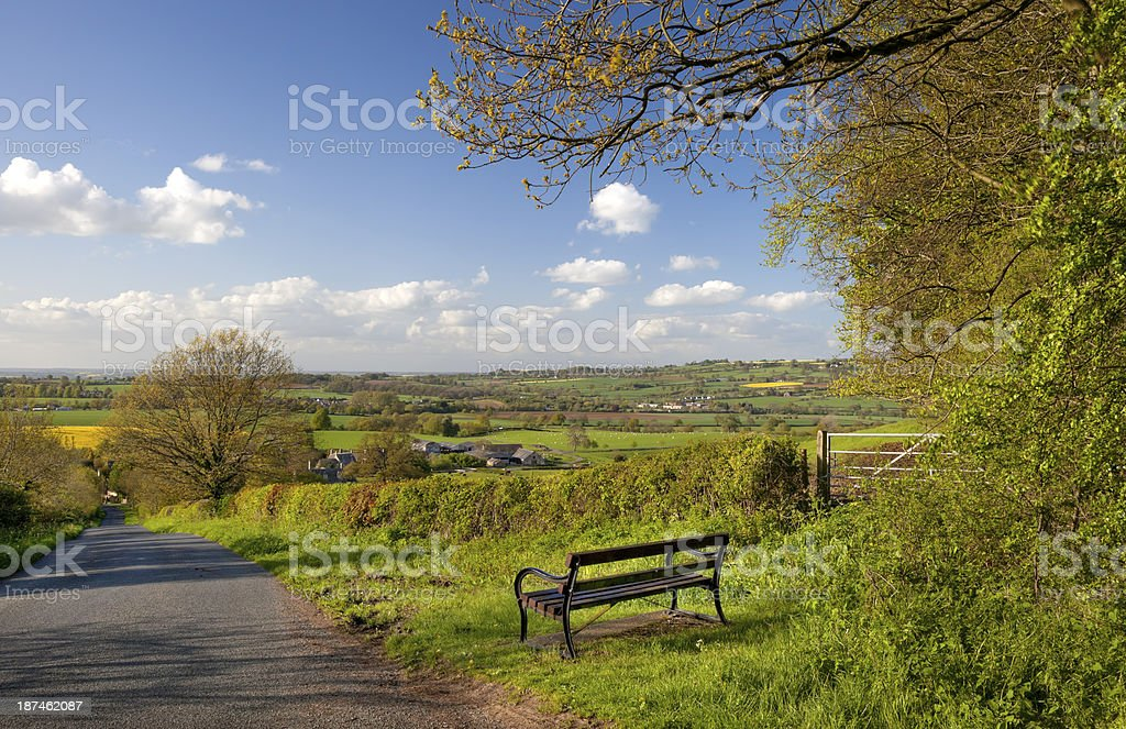 Pretty view, England stock photo