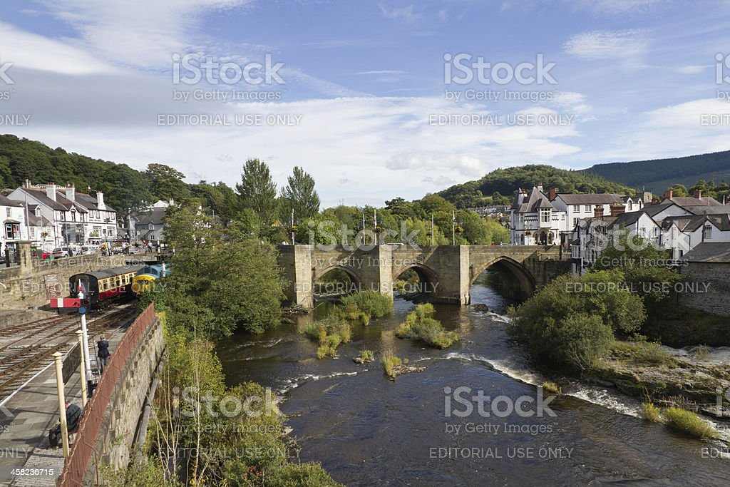Pretty welsh town royalty-free stock photo