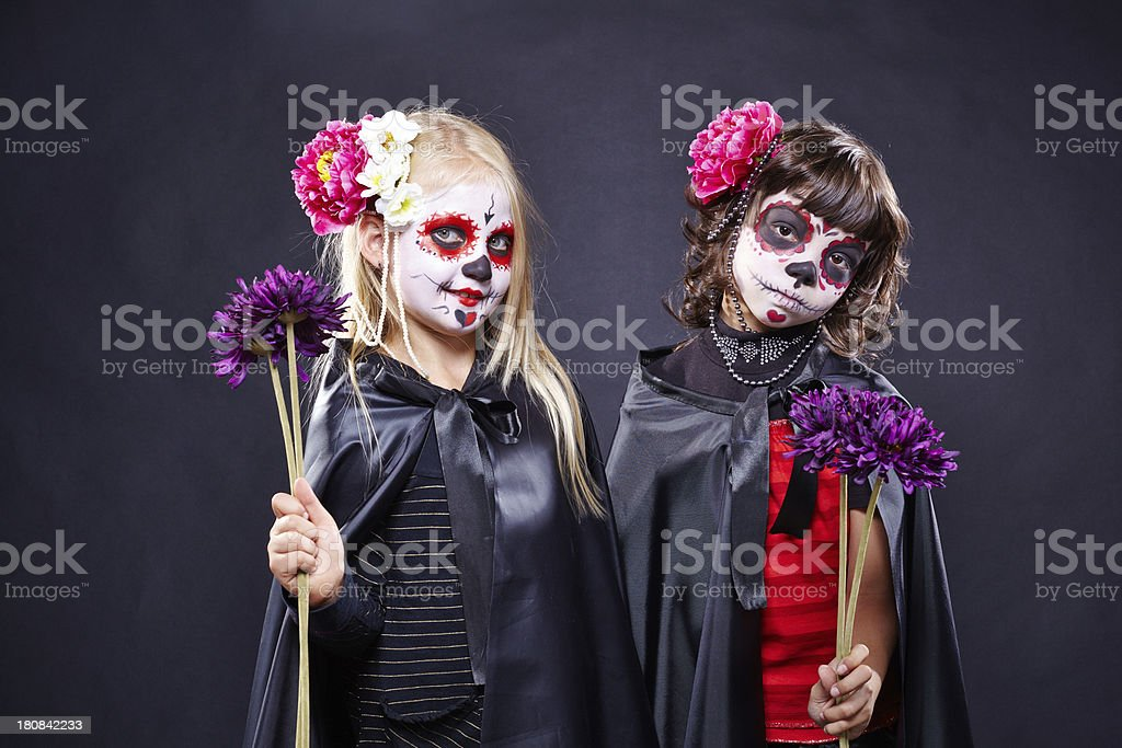 Pretty witches royalty-free stock photo