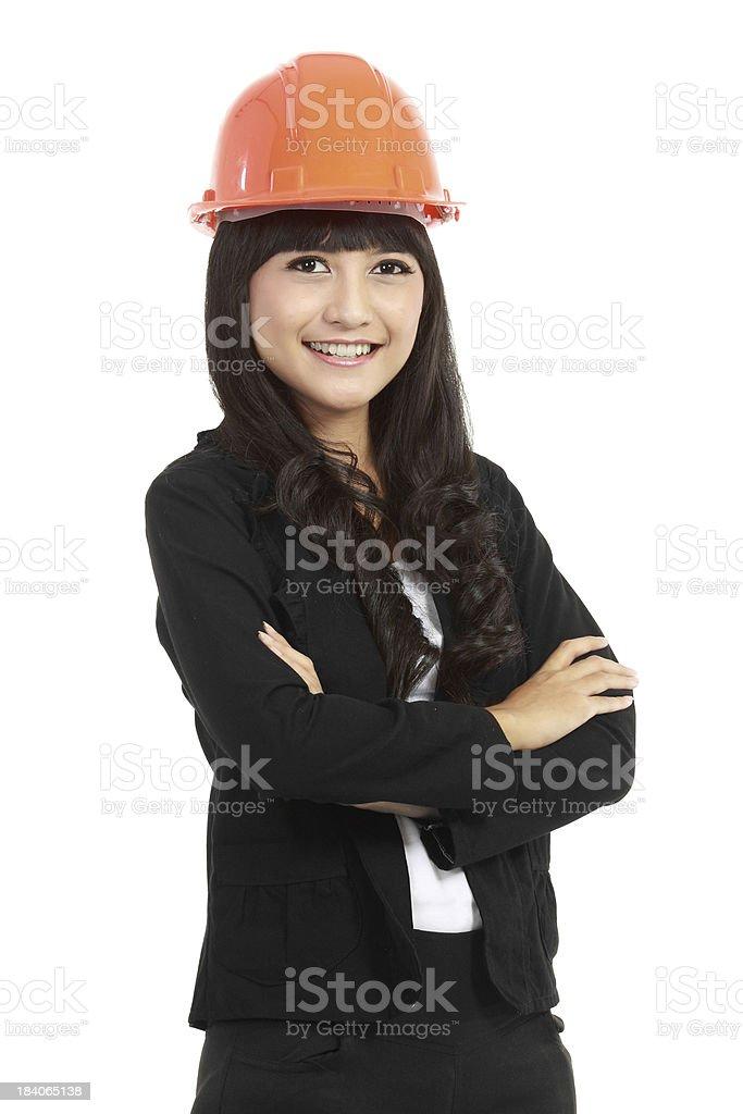 pretty woman architect royalty-free stock photo