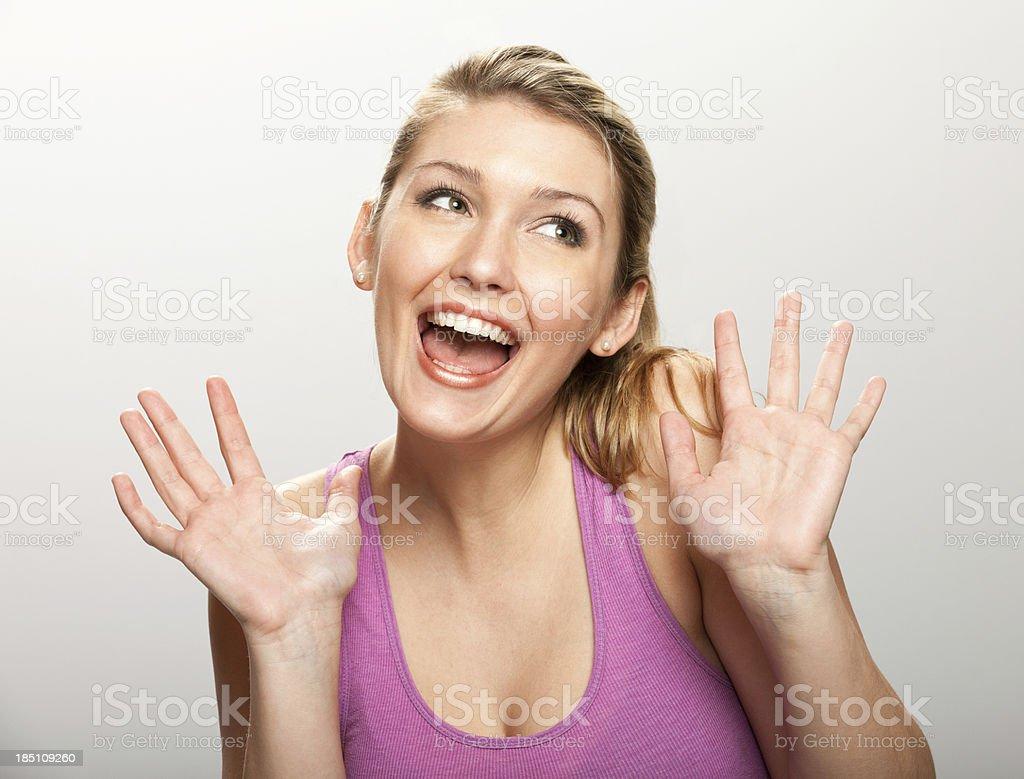 Pretty Woman Celebrates stock photo