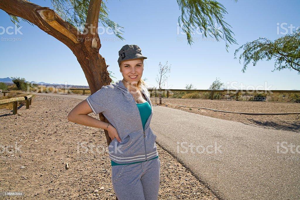 Pretty Woman Enjoying the Outdoors stock photo