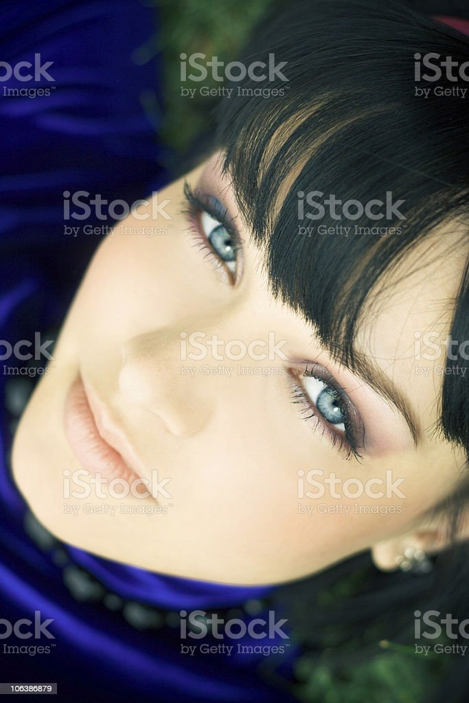 pretty woman in park royalty-free stock photo