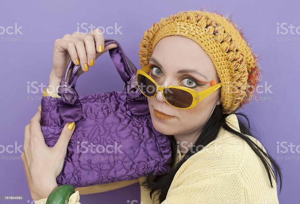 Pretty Woman in Spring Colors stock photo