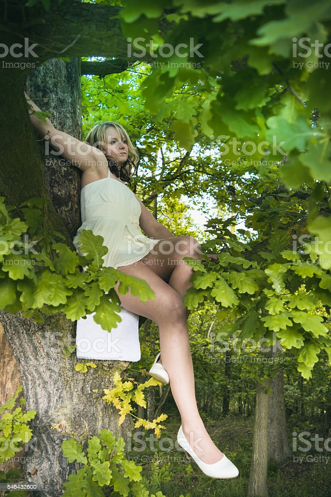 pretty woman in summer stock photo