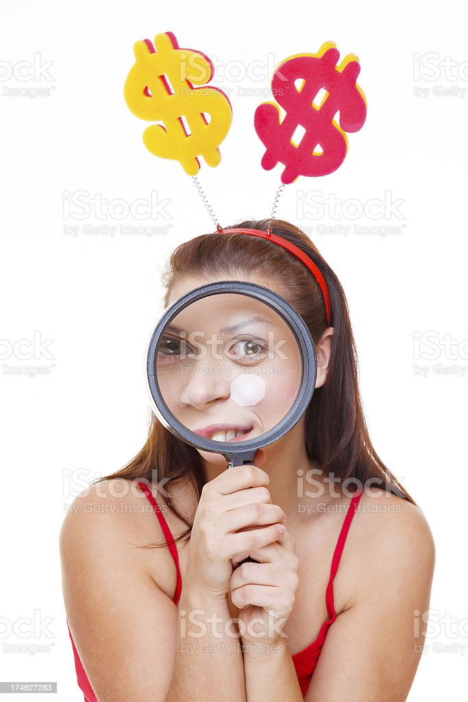 Pretty woman making funny expression royalty-free stock photo