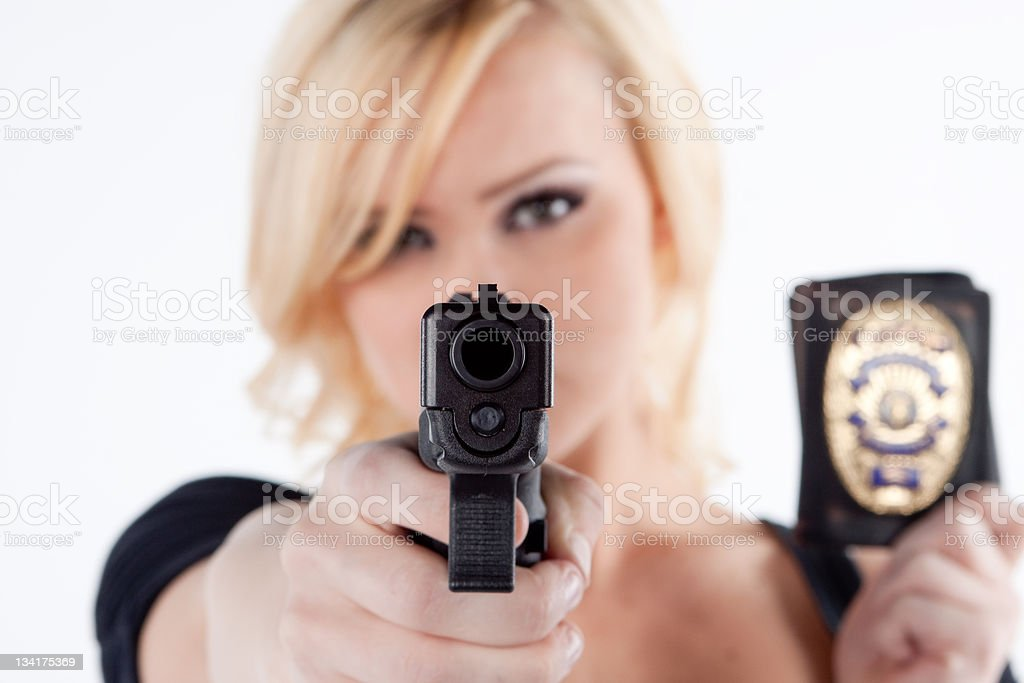 Pretty Woman Police officer royalty-free stock photo