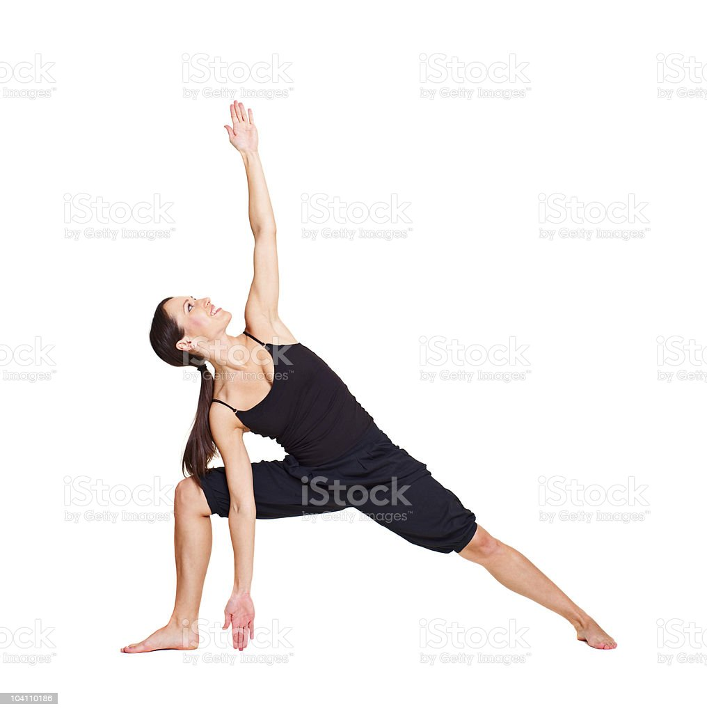 pretty woman practicing yoga royalty-free stock photo