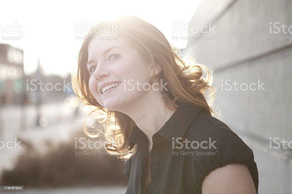 Pretty woman smiling. royalty-free stock photo