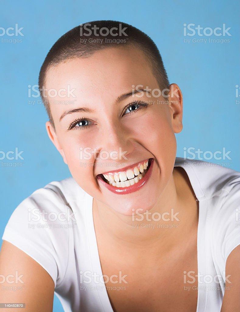 Pretty woman smiling stock photo