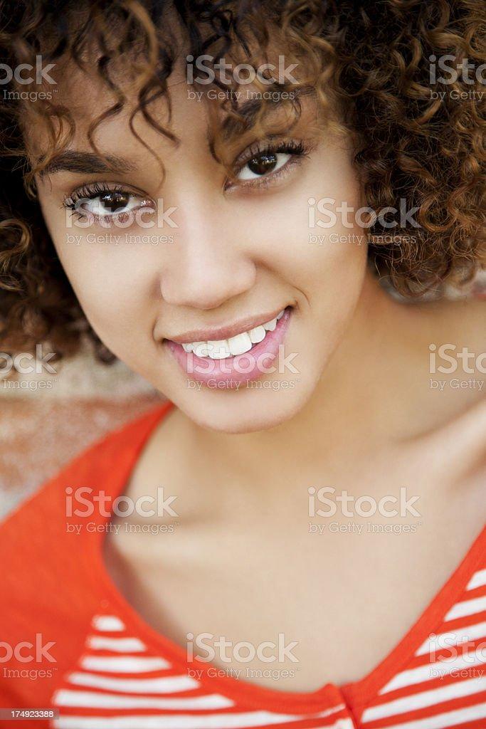 Pretty woman smiling royalty-free stock photo