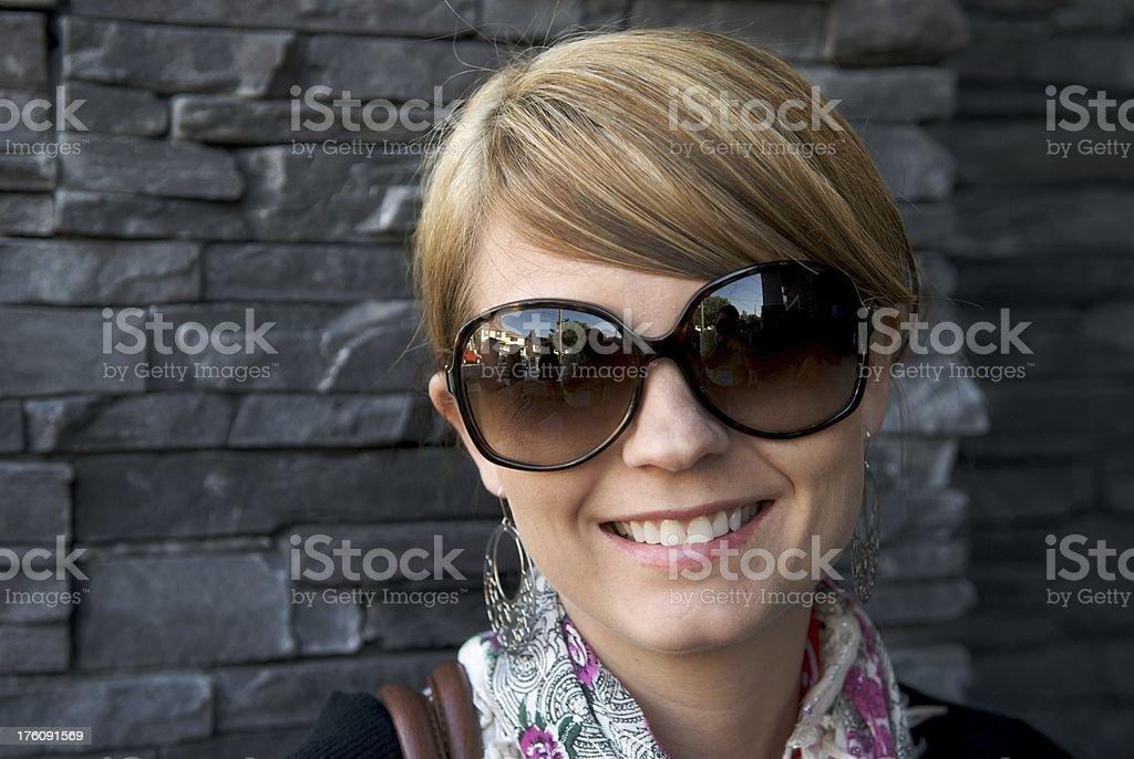 Pretty Woman Up Close stock photo