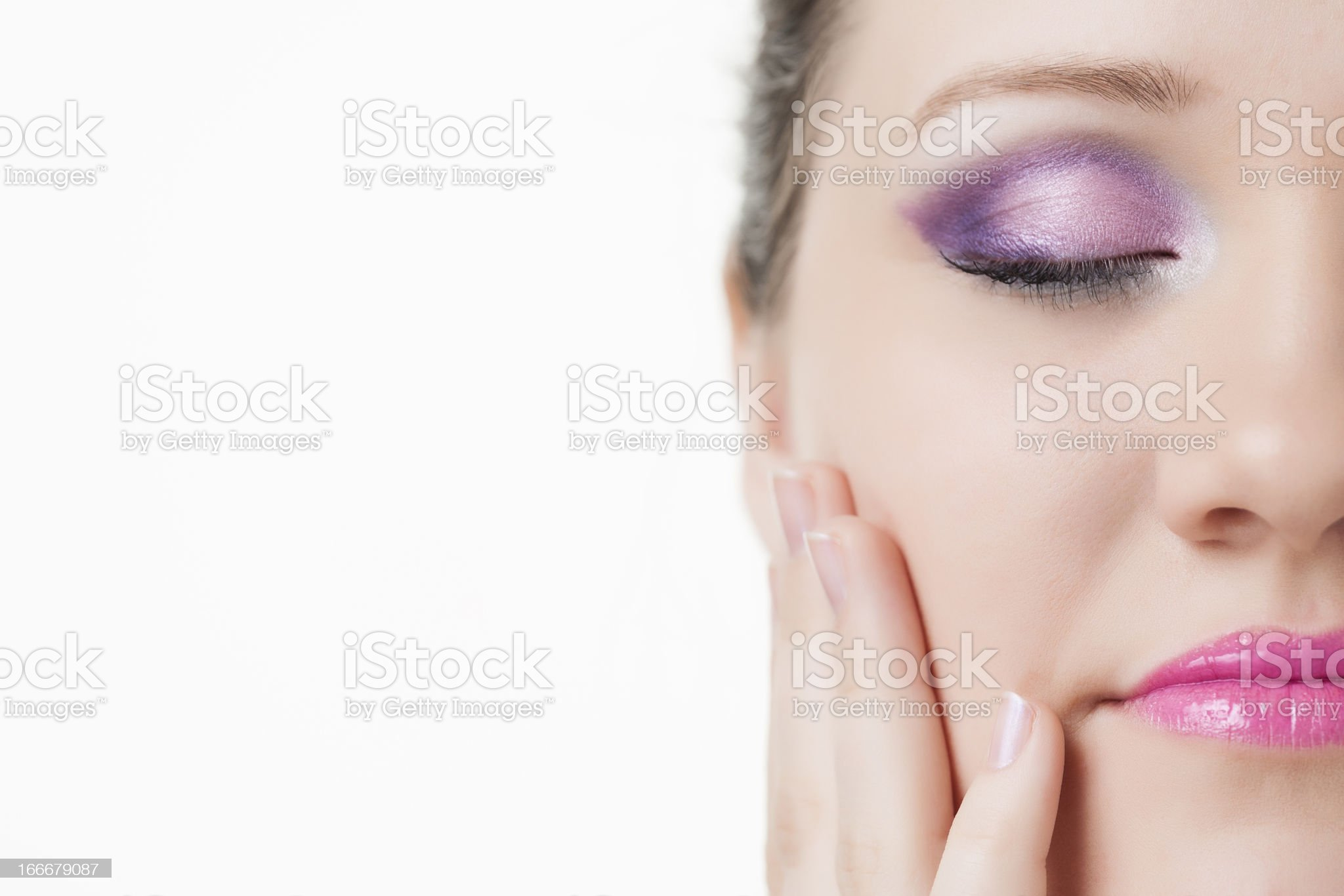 Pretty woman wearing a nice make up royalty-free stock photo