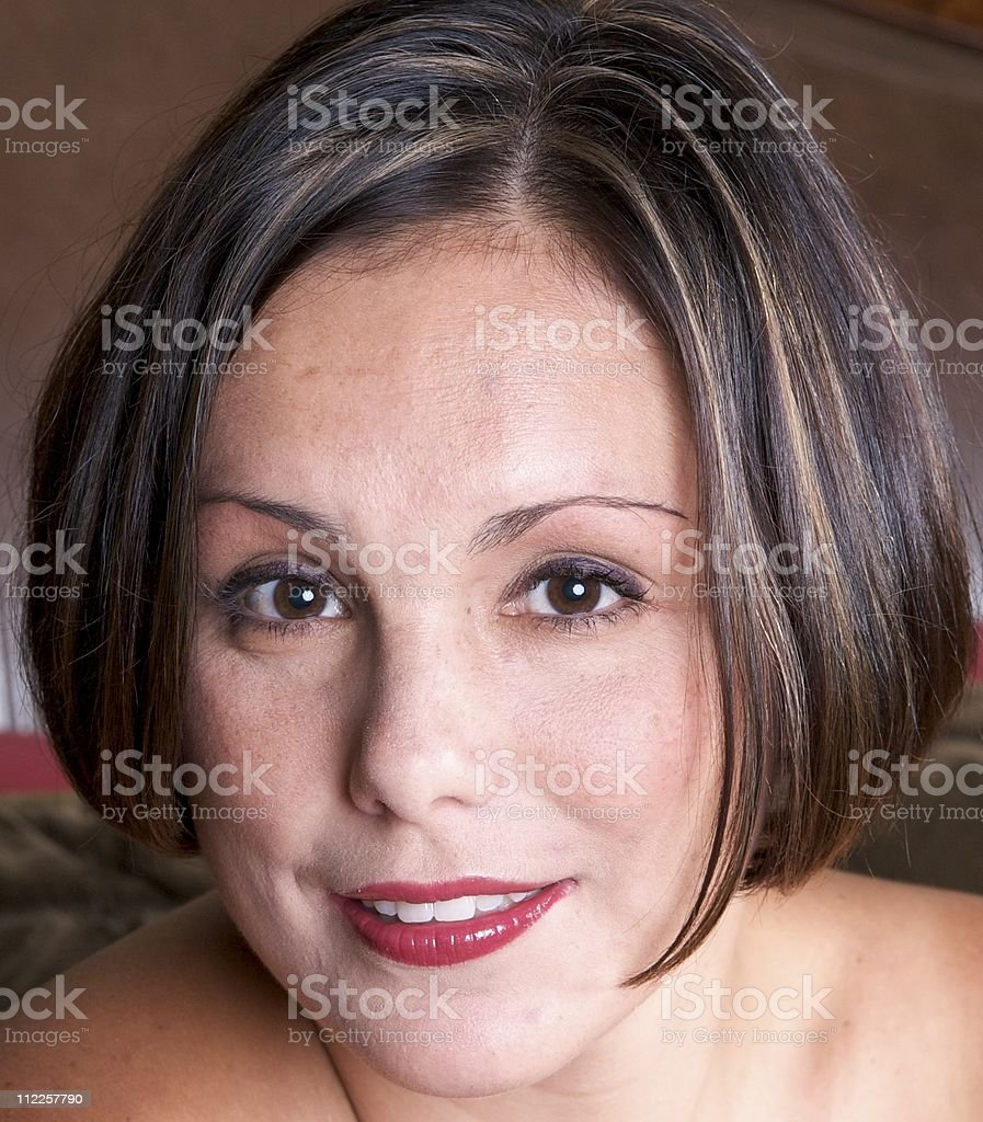 Pretty Woman with Cute Hair Style royalty-free stock photo