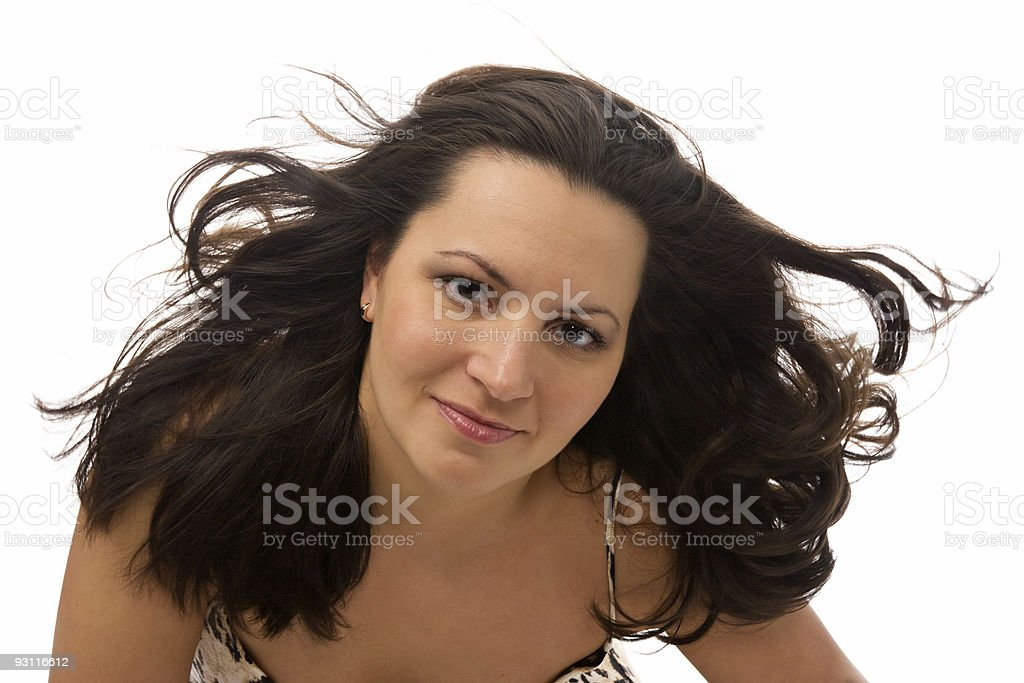 pretty woman with great hair royalty-free stock photo