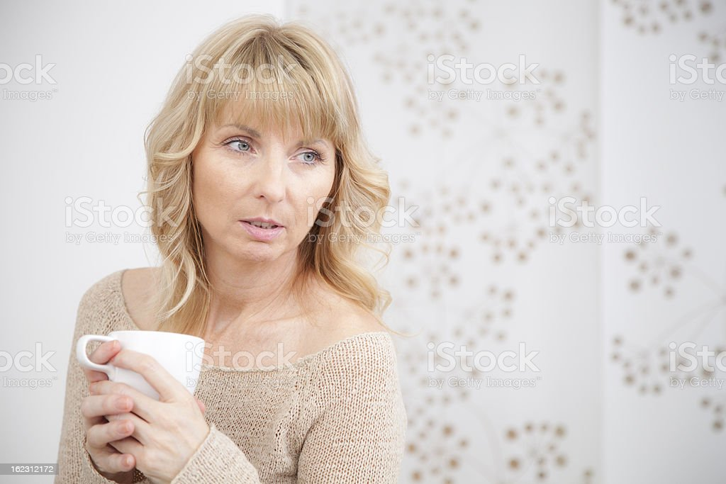 pretty women with a cup of coffee royalty-free stock photo