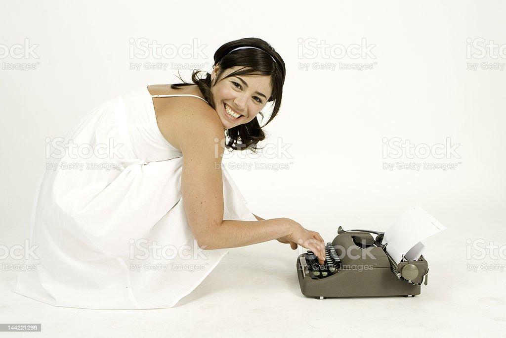 pretty writer royalty-free stock photo
