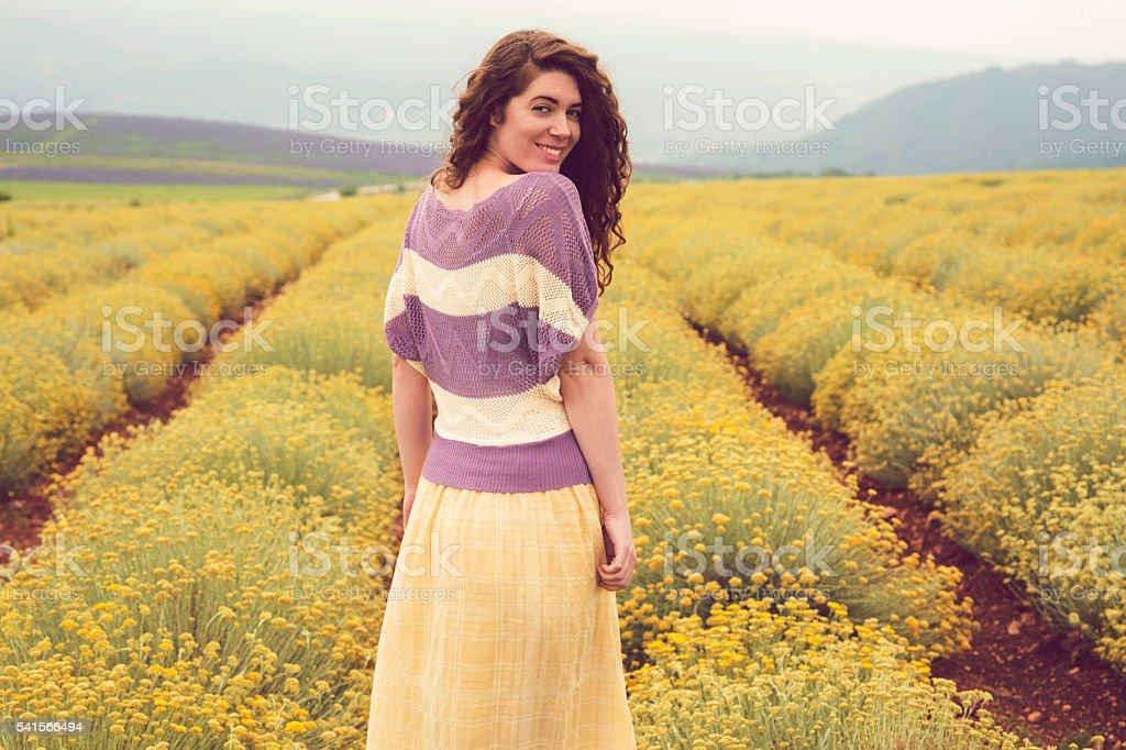 Pretty yellow stock photo