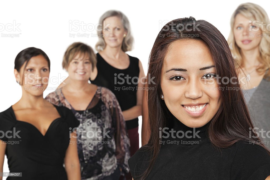 Pretty Young Asian Woman In Front of Other Women royalty-free stock photo