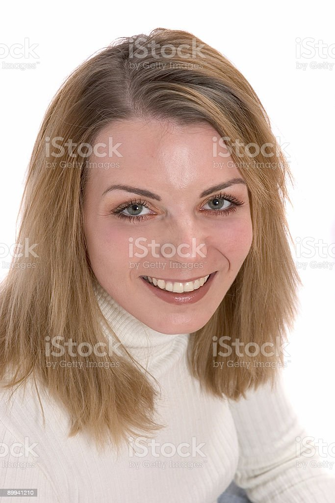 Pretty young blond stock photo