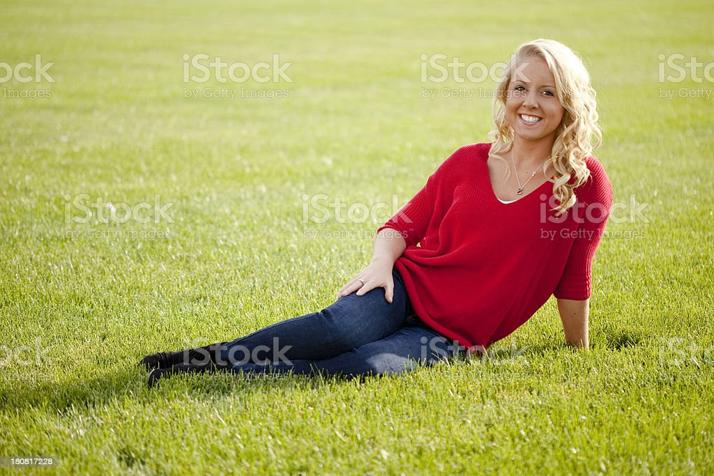 Pretty Young Blonde Girl royalty-free stock photo