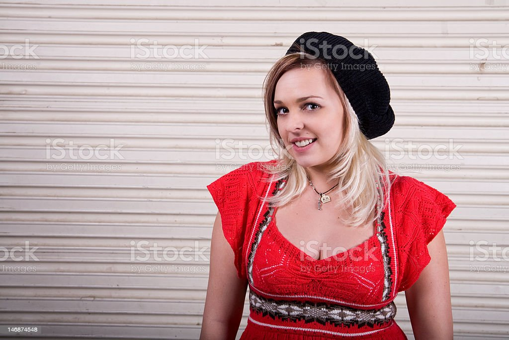 Pretty Young Blonde stock photo