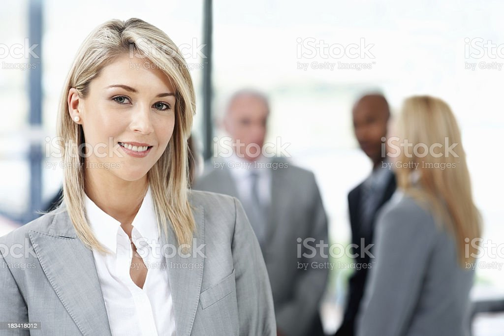Pretty young business woman royalty-free stock photo