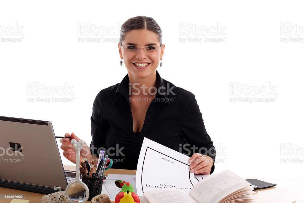 Pretty young businesswoman royalty-free stock photo