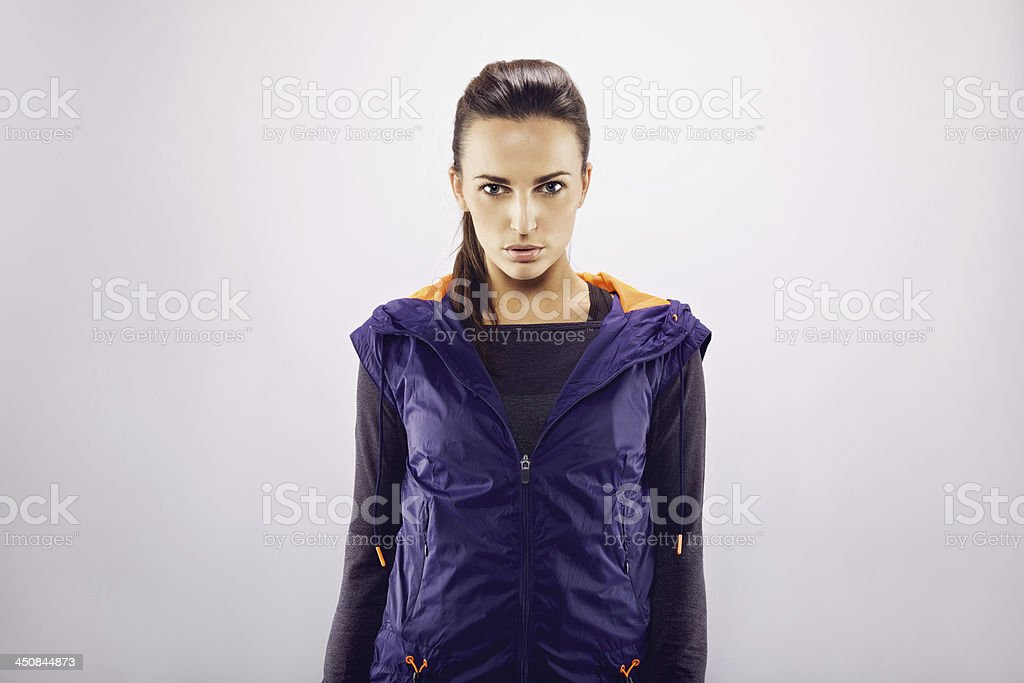 Pretty young female athlete stock photo