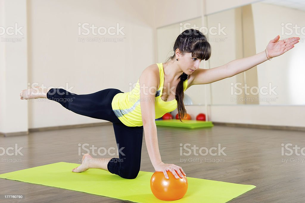 Pretty young girl fitness workout royalty-free stock photo