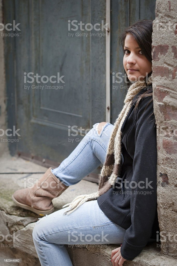 Pretty Young Highschool/College Girl royalty-free stock photo