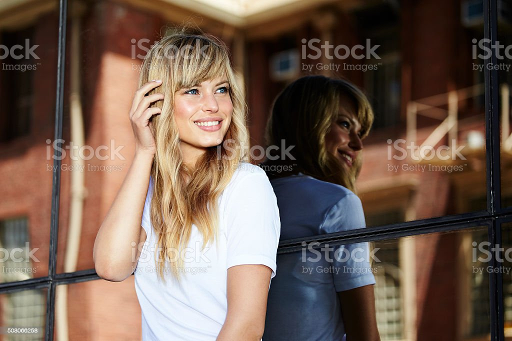 Pretty young model stock photo
