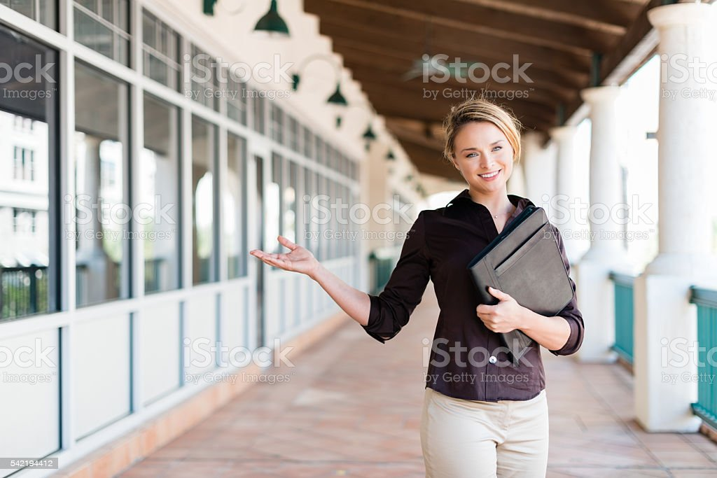Pretty Young Office Worker stock photo