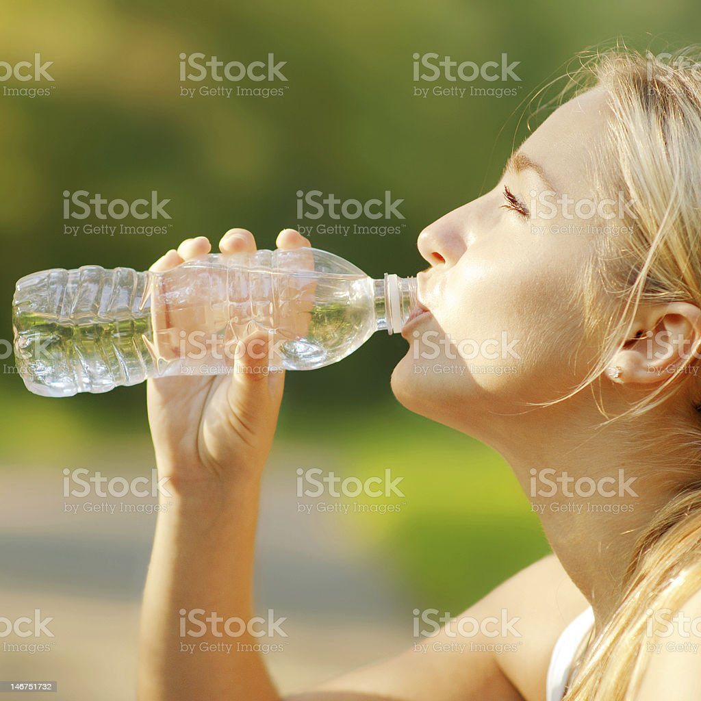 Pretty Young Runner royalty-free stock photo