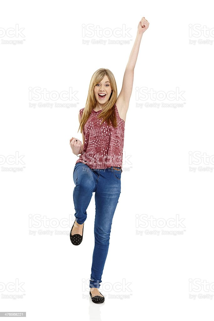 Pretty young woman looking excited royalty-free stock photo