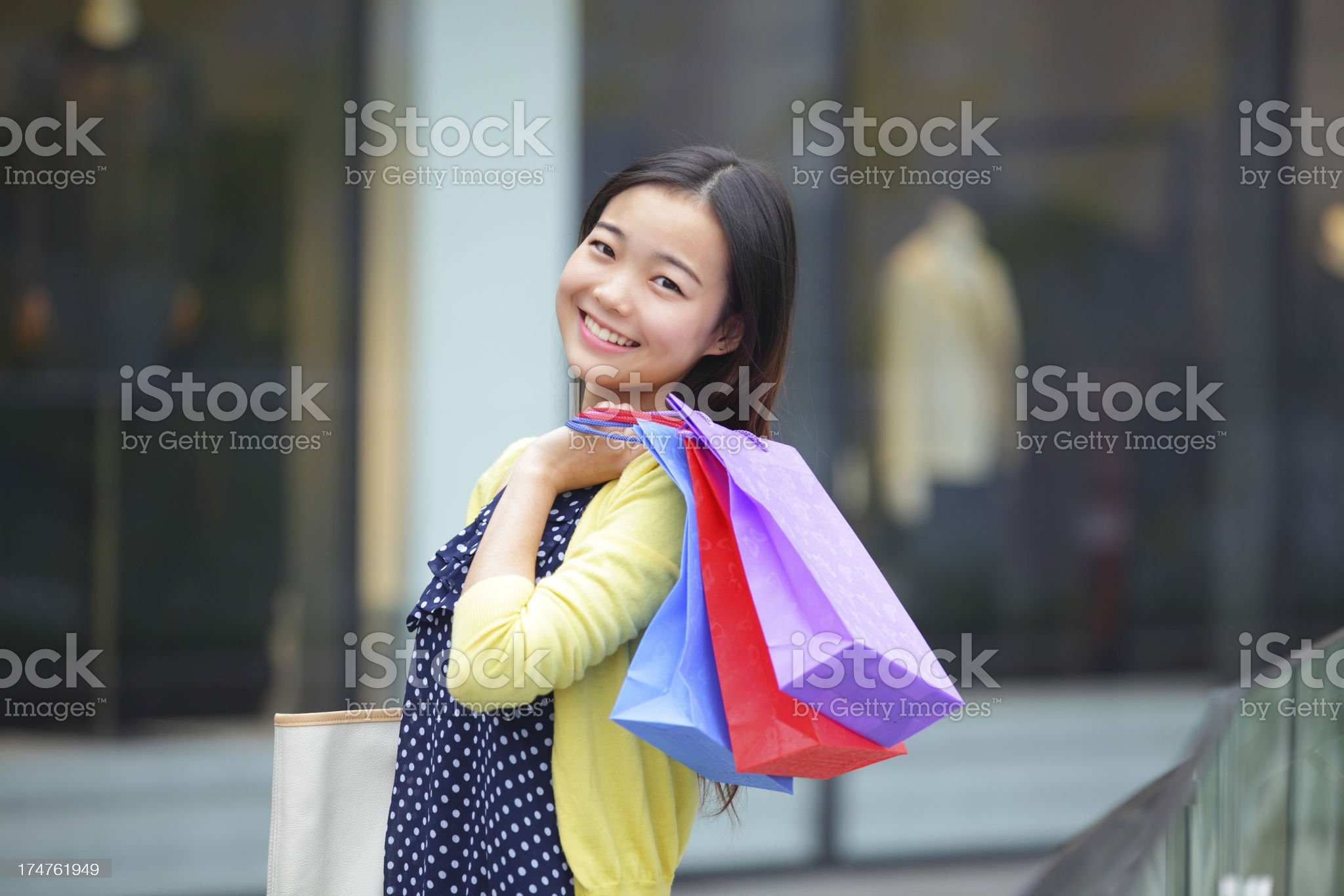 pretty young woman shopping royalty-free stock photo