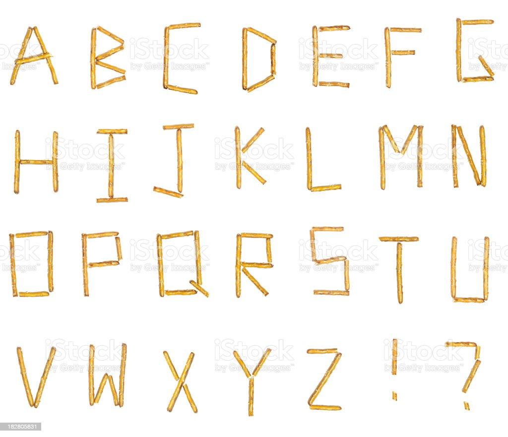 Pretzel Alphabet (XXXL) royalty-free stock photo