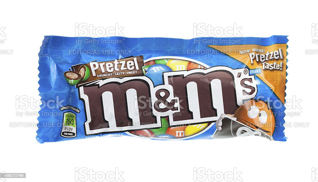 M&M Pretzel Chocolate Candy stock photo