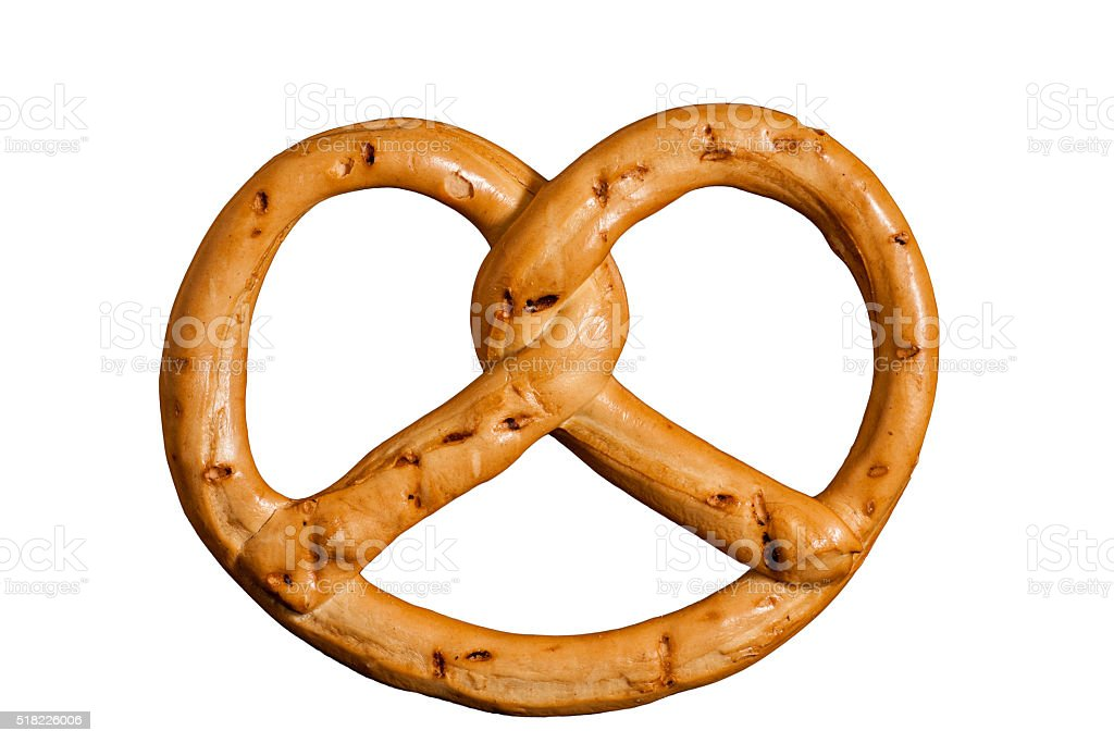 pretzel isolated on white background. clipping path stock photo