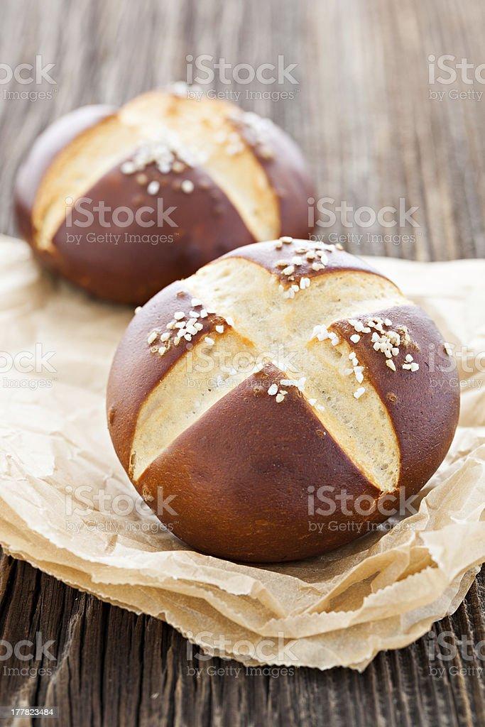 pretzel roll stock photo