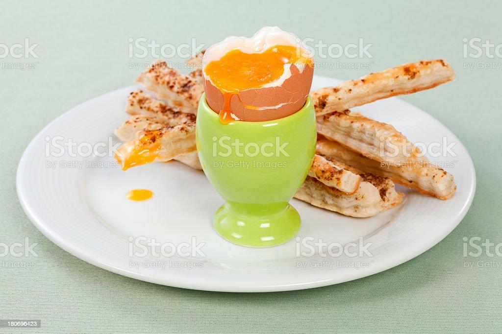 Pretzel salt sticks and egg royalty-free stock photo