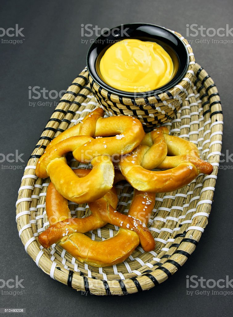 Pretzel With Cheese royalty-free stock photo