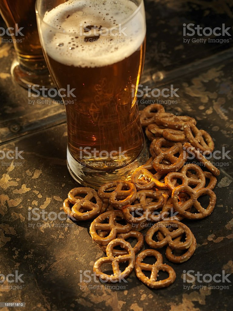 Pretzels and a Beer royalty-free stock photo