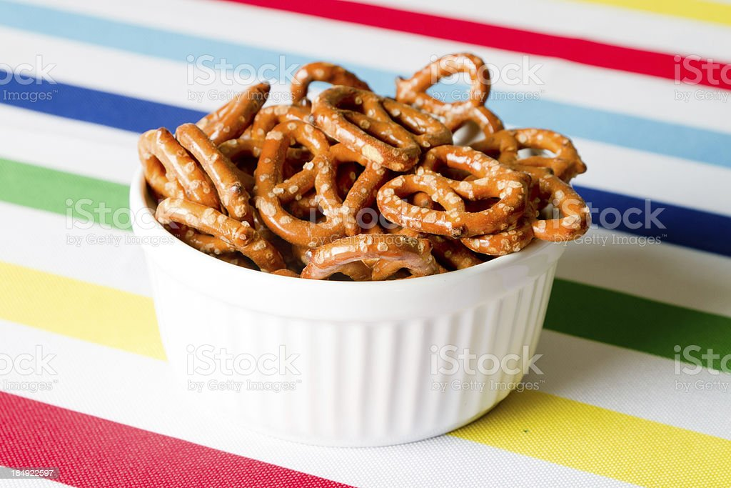Pretzels in a bowl royalty-free stock photo